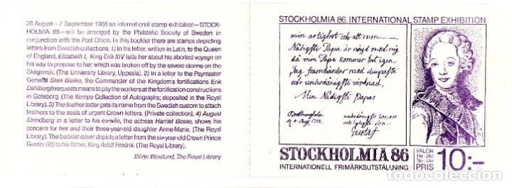 SWEDEN/1983/MNH/SC#1505A/ STOCKHOLMIA ´86 INTL. EXHIBICION DE SELLOS / BOOKLET (Sellos - Extranjero - Europa - Suecia)