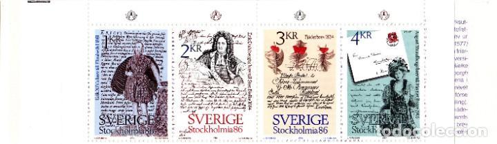 Sellos: SWEDEN/1983/MNH/SC#1505a/ STOCKHOLMIA ´86 INTL. EXHIBICION DE SELLOS / BOOKLET - Foto 2 - 210443875