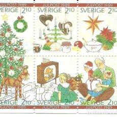 Sellos: SUECIA , NAVIDAD 1989 , IVERT 1554/59. Lote 210450408