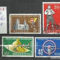 Sellos: 9304A-SERIE COMPLETA SALON AUTOMOVIL 1955 Nº558/61 COCHES VEHICULOS. HELVETIA. Lote 213187200