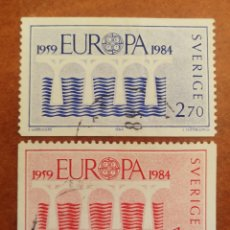 Sellos: SUECIA, EUROPA CEPT 1984 USADA (FOTOGRAFÍA REAL). Lote 213698131