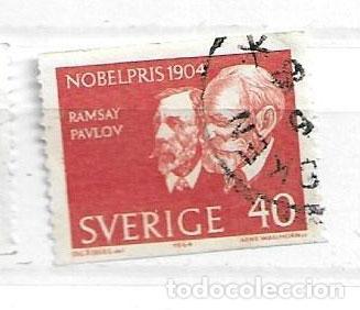 1964-SUECIA. GANADORES PREMIO NOBEL JWILLIAM RAMSAY (QUÍMICA) Y IVÁN PAVLOV (MEDICINA). (Sellos - Extranjero - Europa - Suecia)