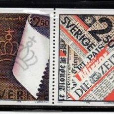Sellos: SUECIA 1607/10** - AÑO 1990 - INDUSTRIA PAPELERA SUECA. Lote 217925887