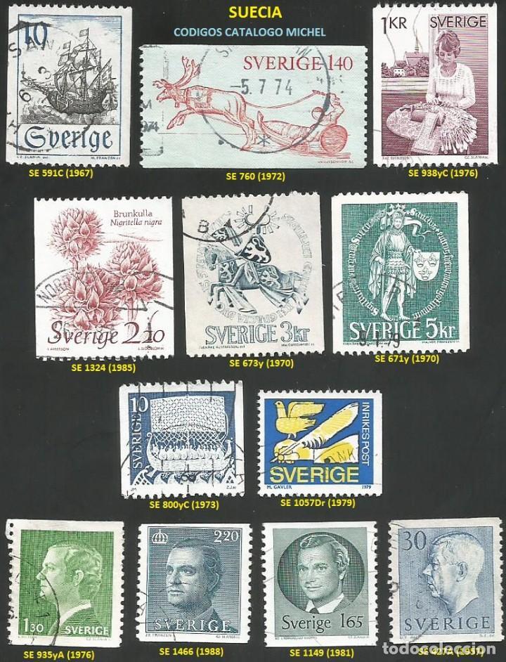 SUECIA 1967 A 1988 - LOTE VARIADO (VER IMAGEN) - 12 SELLOS USADOS (Sellos - Extranjero - Europa - Suecia)