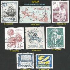 Sellos: SUECIA 1967 A 1988 - LOTE VARIADO (VER IMAGEN) - 12 SELLOS USADOS. Lote 218247461