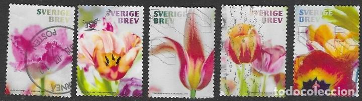 SELLOS USADOS DE SUECIA YT 3262/ 66, FOTO ORIGINAL (Sellos - Extranjero - Europa - Suecia)