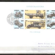 Sellos: SUECIA .1980. FDC. HB. 8. HISTORIA DEL AUTOMÓVIL SUECO. Lote 221293726