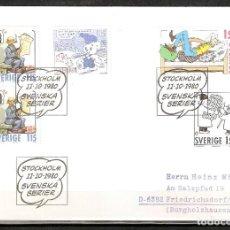 Sellos: SUECIA .1980. FDC. YT 1106/1109. Lote 221297043