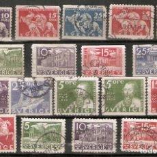 Sellos: SUECIA. 1932-36. 18 USADOS. Lote 221478108
