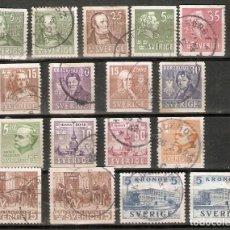 Sellos: SUECIA. 1939-41. 17 USADOS. Lote 221478697