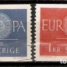 Timbres: SUECIA.1960. YT 454,455. EUROPA. Lote 222213303