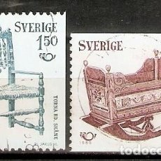 Selos: SUECIA.1980. YT 1097,1098. Lote 222226635