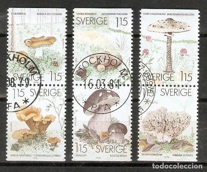 SUECIA. 1978. YT 1021/1026. SETAS (Sellos - Extranjero - Europa - Suecia)