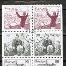 Sellos: SUECIA. 1978. HOJA DE CARNET YT C999. YT 999/1003. Lote 222242895
