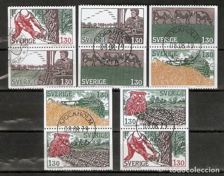SUECIA. 1979. YT 1042/1046. VARIANTES (Sellos - Extranjero - Europa - Suecia)