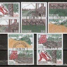 Sellos: SUECIA. 1979. YT 1042/1046. VARIANTES. Lote 222243347