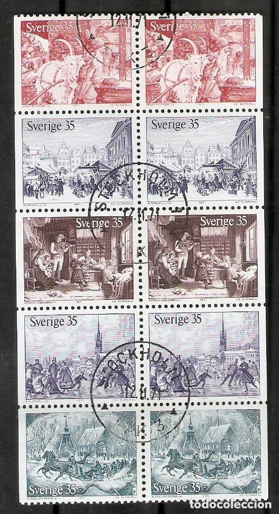 SUECIA. 1971 .YT 708/712. TIRA DE CARNET C708 (Sellos - Extranjero - Europa - Suecia)
