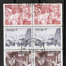 Sellos: SUECIA. 1971 .YT 708/712. TIRA DE CARNET C708. Lote 222243897