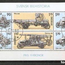 Sellos: SUECIA .1980. HB. 8. HISTORIA DEL AUTOMÓVIL SUECO. Lote 222244222
