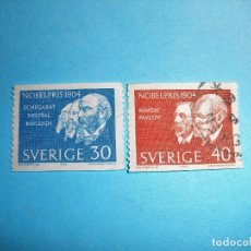 Sellos: SUECIA - PREMIOS NOBEL 1904 - ECHEGARAY MISTRAL RAYLEIGH.. Lote 223395560