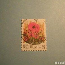 Sellos: SUECIA - FLORES , AMAPOLA.. Lote 223396438