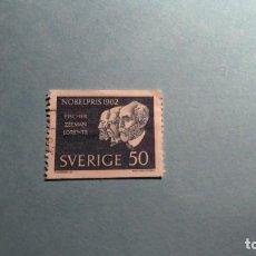 Sellos: SUECIA - PREMIOS NOBEL 1902 - FISCHER, ZEEMAM Y LORENTZ.. Lote 223683886