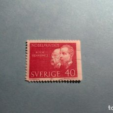 Sellos: SUECIA - PREMIOS NOBEL 1905 - KOCH STENKIEWICZ.. Lote 223684003