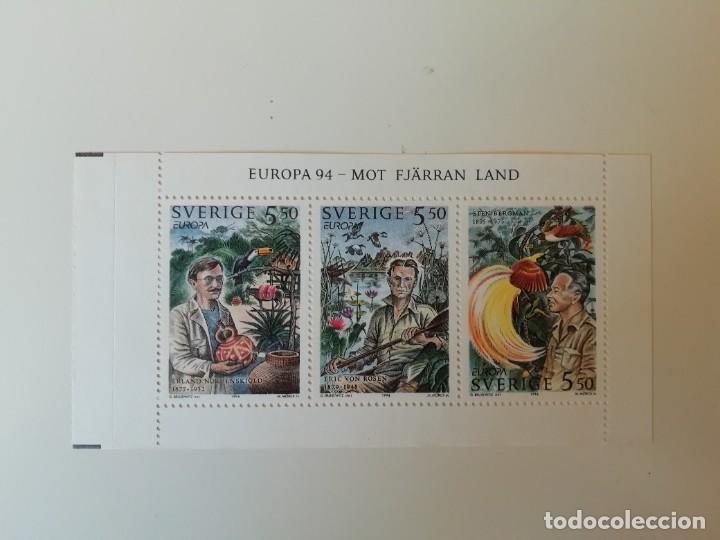 HOJITA SUECIA (3) (Sellos - Extranjero - Europa - Suecia)