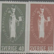 Selos: LOTE 12-SELLOS SUECIA SERIE NUEVA SIN CHARNELA. Lote 228578185