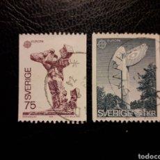 Francobolli: SUECIA YVERT 831/2 SERIE COMPLETA USADA 1974. EUROPA CEPT. ESCULTURAS. PEDIDO MÍNIMO 3 EUROS. Lote 229572635