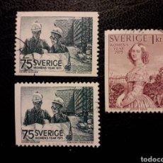 Timbres: SUECIA YVERT 871/2 + 871A SERIE COMPLETA USADA 1975 AÑO INTERNACIONAL DE LA MUJER. PEDIDO MÍNIMO 3 €. Lote 229646045