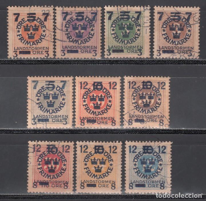 SUECIA, 1918 YVERT Nº 112 / 121 (Sellos - Extranjero - Europa - Suecia)