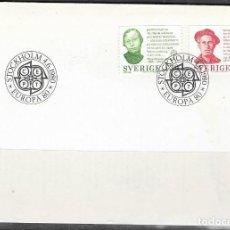 Sellos: FDC SUECIA 1980, EUROPA YT 1088/ 89, FOTO ORIGINAL. Lote 235876430