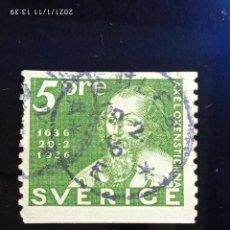 Sellos: SUECIA SVERIGE, 5 ORE, COMMEMORATIVE, AÑO 1936.. Lote 236637325