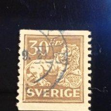 Sellos: SUECIA SVERIGE, 30 ORE, LEON, AÑO 1925.. Lote 236781675