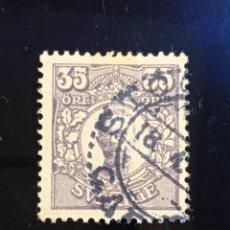 Sellos: SUECIA SVERIGE, 35 ORE, GUSTAF V. AÑO 1911.. Lote 236789275