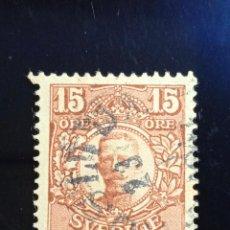 Sellos: SUECIA SVERIGE, 15 ORE, GUSTAF V. AÑO 1911.. Lote 236789755
