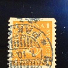 Sellos: SUECIA SVERIGE, 1 KRONA, AÑO 1920.. Lote 236794050