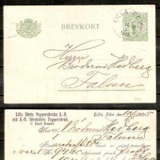 Sellos: SUECIA.1915. ENTERO POSTAL . LILLA EDET. Lote 237116395