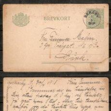 Sellos: SUECIA.1918. ENTERO POSTAL . BERGBY. Lote 237116650