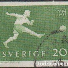 Sellos: SUECIA 1958 SCOTT 525 SELLO º DEPORTES FUTBOL WC FOOTBALL MICHEL 439A YVERT 430 SWEDEN STAMPS TIMBRE. Lote 243616870