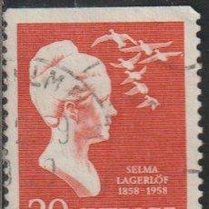 Sellos: SUECIA 1958 SCOTT 535 SELLO º SELMA LAGERLOF (1859-1940) AUTHOR AND TEACHER MICHEL 443DO YVERT 434A. Lote 243616940