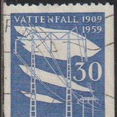 Sellos: SUECIA 1958 SCOTT 538 SELLO º ENERGIA ELECTRICA WATER POWER BOARD MICHEL 446C YVERT 437 SWEDEN STAMP. Lote 243617130