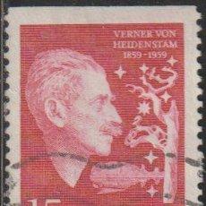 Sellos: SUECIA 1959 SCOTT 543 SELLO º CARL GUSTAF VERNER VON HEIDENSTAM (1859-1940) MICHEL 449DO YVERT 440AS. Lote 243617395