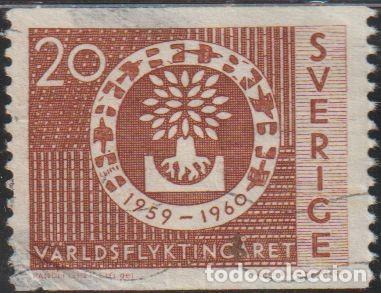 SUECIA 1960 SCOTT 553 SELLO º AYUDA A REFUGIADOS MICHEL 457A YVERT 448 SWEDEN STAMPS TIMBRE SUÈDE (Sellos - Extranjero - Europa - Suecia)