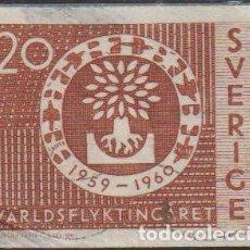 Sellos: SUECIA 1960 SCOTT 553 SELLO º AYUDA A REFUGIADOS MICHEL 457A YVERT 448 SWEDEN STAMPS TIMBRE SUÈDE. Lote 243617455