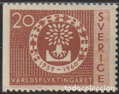 SUECIA 1960 SCOTT 555 SELLO º AYUDA A REFUGIADOS MICHEL 457DL YVERT 448A SWEDEN STAMPS TIMBRE SUÈDE (Sellos - Extranjero - Europa - Suecia)