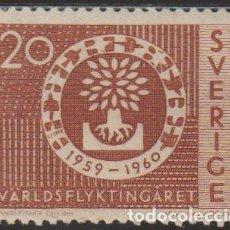 Sellos: SUECIA 1960 SCOTT 555 SELLO º AYUDA A REFUGIADOS MICHEL 457DL YVERT 448A SWEDEN STAMPS TIMBRE SUÈDE. Lote 243617940