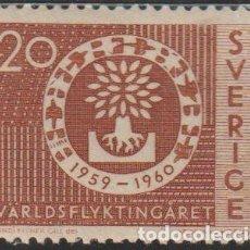 Sellos: SUECIA 1960 SCOTT 555 SELLO º AYUDA A REFUGIADOS MICHEL 457DR YVERT 448A SWEDEN STAMPS TIMBRE SUÈDE. Lote 243618135