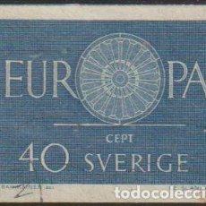 Sellos: SUECIA 1960 SCOTT 562 SELLO º EUROPA CEPT EMBLEMA MICHEL 463 YVERT 454 SWEDEN STAMPS TIMBRE SUÈDE. Lote 243618455